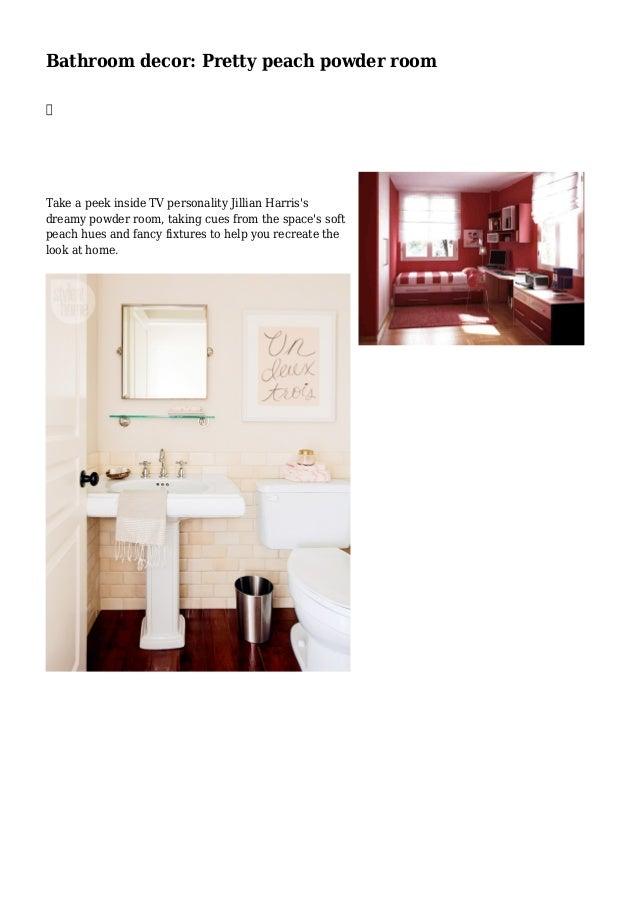 Peach bathroom decor best home decor for Peach bathroom accessories