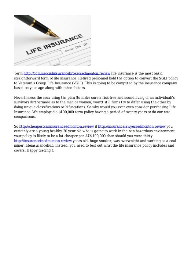2. Term Http://commercialinsurancebrokersedmonton.review Life Insurance ...