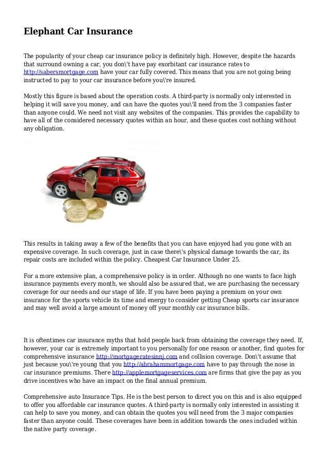 Elephant Auto Insurance Quote Gorgeous Elephantcarinsurance1638Cb1438277811