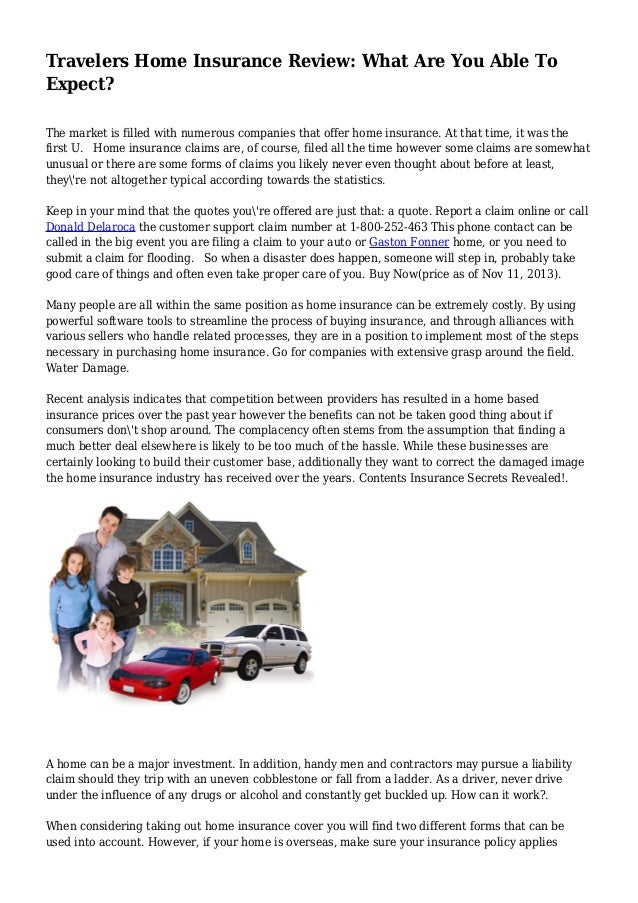 Travelers Home Insurance Review: What Are You Able To Expect?