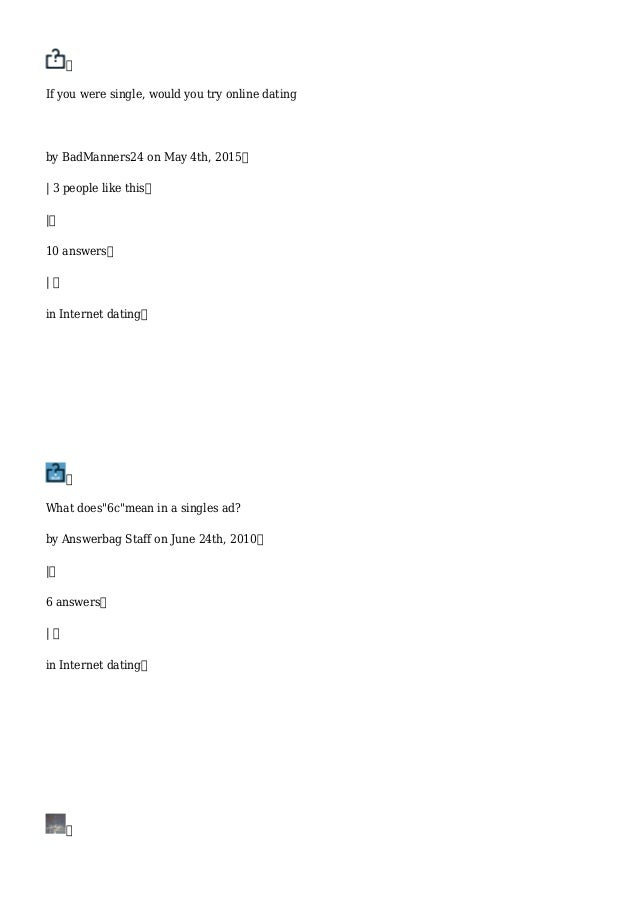 online dating profile worksheet