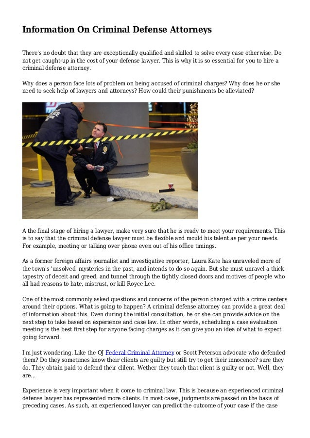 important information on criminal defense lawyer