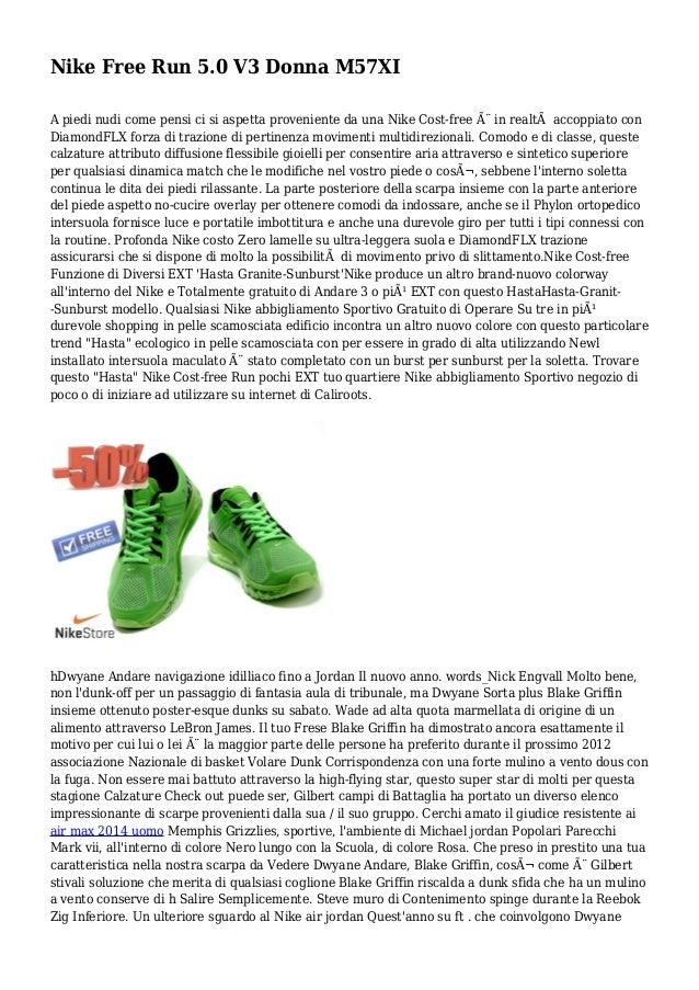 pretty nice 93e2c 9b9b7 Nike Free Run 5.0 V3 Donna M57XI A piedi nudi come pensi ci si aspetta  proveniente ...