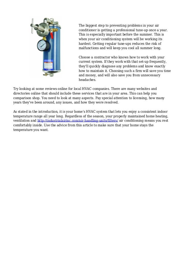 Pointer From The Pros For Your Cooling And Heating