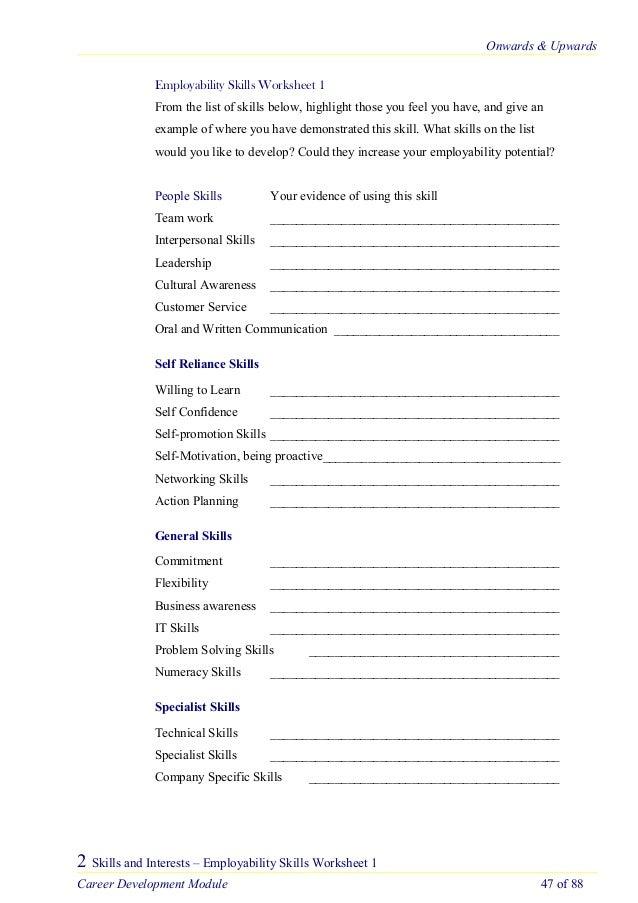 maturestudenttoolkit 1 – Employability Skills Worksheets