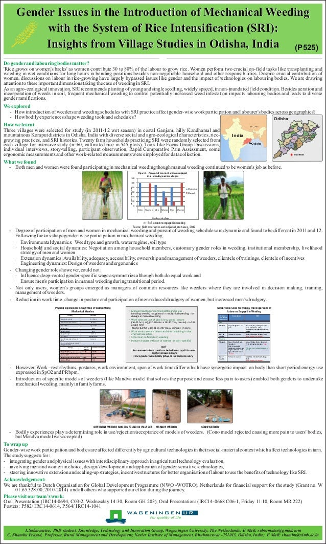 Gender Issues in the Introduction of Mechanical Weeding  with the System of Rice Intensification (SRI):  Insights from Vil...