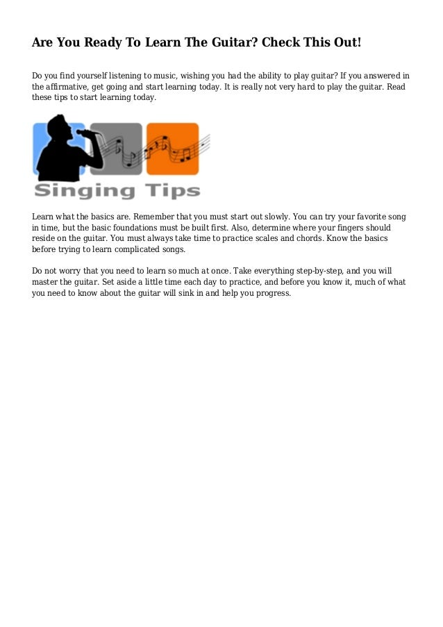 Are You Ready To Learn The Guitar Check This Out