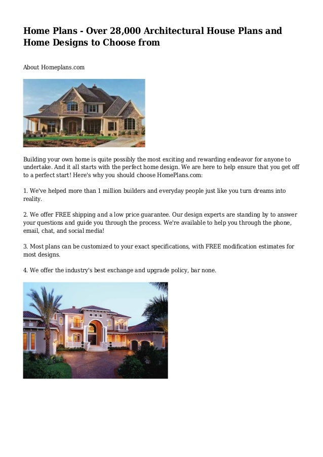 Home Plans - Over 28,000 Architectural House Plans and Home Designs t…