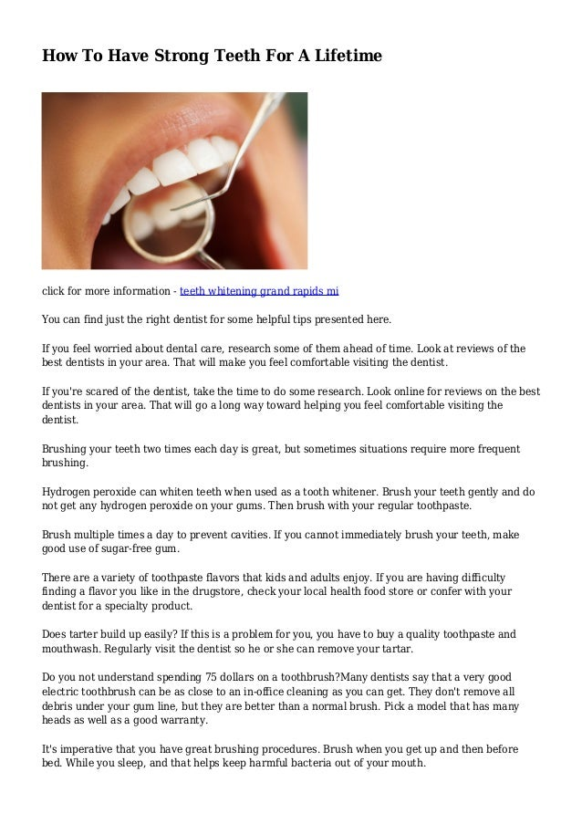 How To Have Strong Teeth For A Lifetime