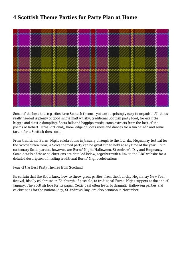 4 scottish theme parties for party plan at home some of the best house parties have