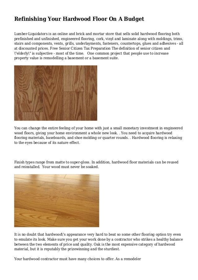 Refinishing Your Hardwood Floor On A Budget