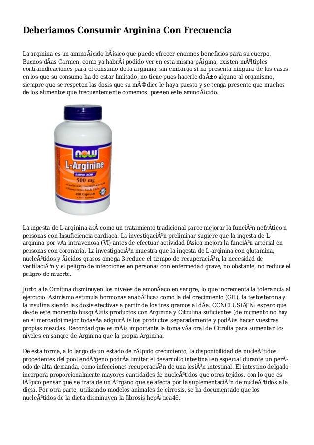Deberiamos Consumir Arginina Con Frecuencia La arginina es un aminoácido básico que puede ofrecer enormes beneficios par...
