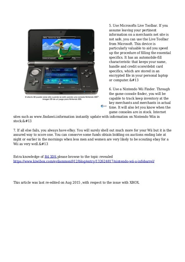 7 Tips For Scoring A Nintendo Wii by Lars Nichols