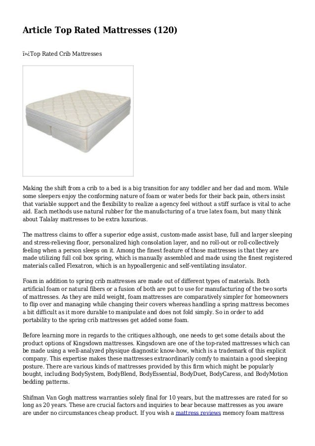 article top rated mattresses 120 top rated crib mattresses making the - Top Rated Mattresses
