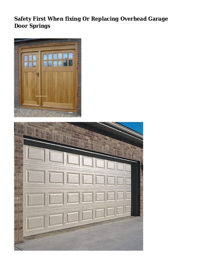 Safety First When Fixing Or Replacing Overhead Garage Door Springs