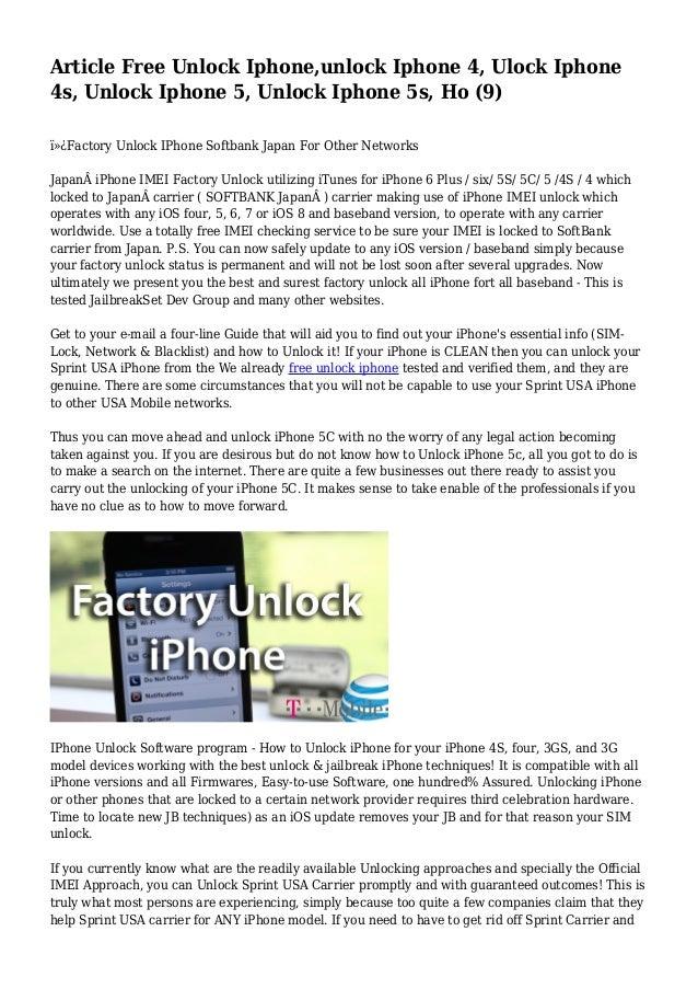 Article Free Unlock Iphone,unlock Iphone 4, Ulock Iphone 4s, Unlock…
