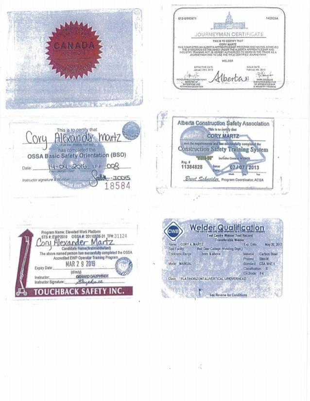 Seal journeyman welder tickets certifications 265283 red seal journeyman welder tickets certifications 265283 sciox Images