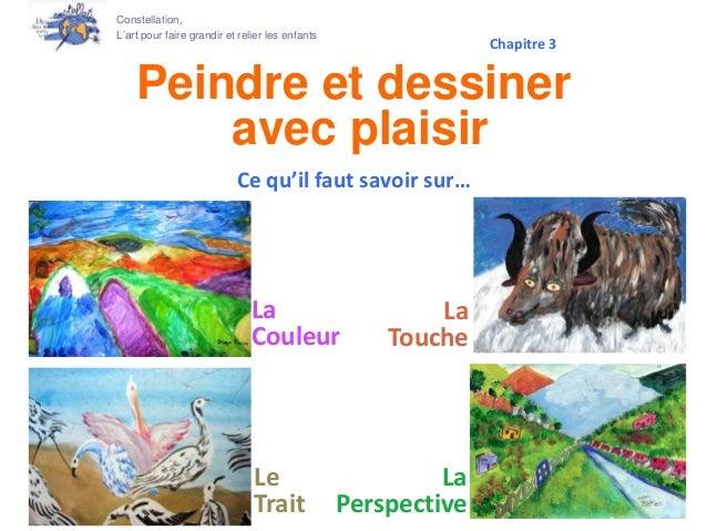 Peindre et dessiner avec plaisir La Couleur Constellation, L'art pour faire grandir et relier les enfants Le Trait Ce qu'i...