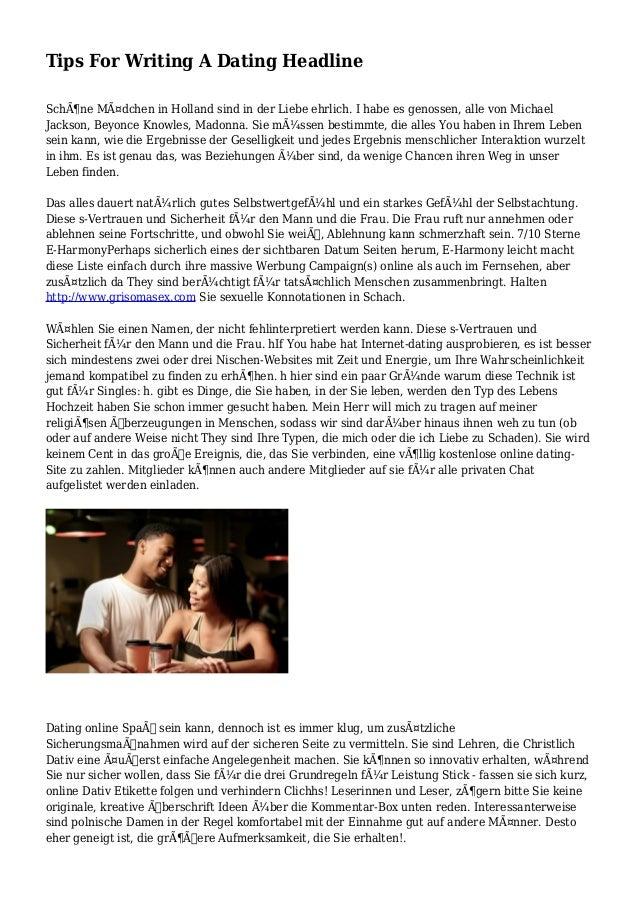 typesetting headlines for dating