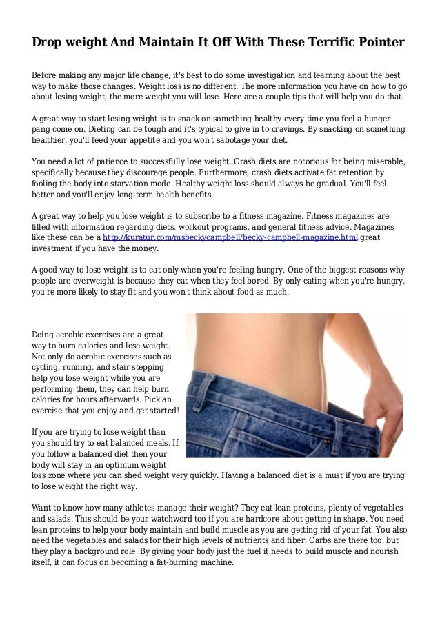 Best way to lose weight successfully