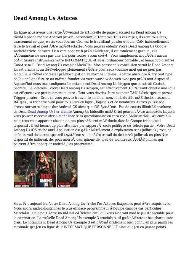 Dead Among Us Astuces En ligne nous avons une large éventail de artificielle de page d'accueil au Dead Among Us télépho...