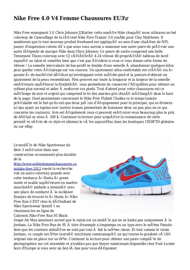 Nike Free 4.0 V4 Femme Chaussures EU3r Nike Free enseignant 3.0 Chris Johnson J2Karlier cette année Nike choqué nous uti...