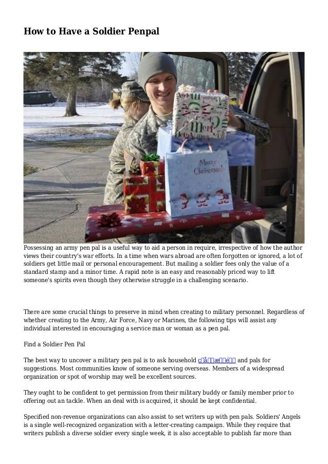 Online pen pals for soldiers