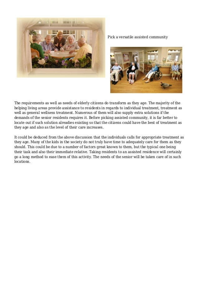 Explaining Effective Solutions For assisted living facilities Slide 3