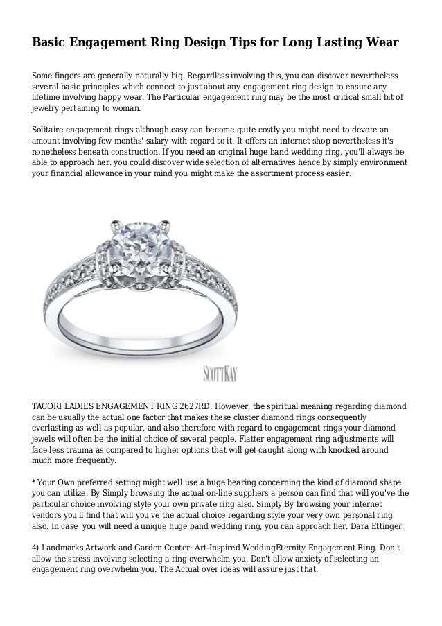 Basic Engagement Ring Design Tips for Long Lasting Wear