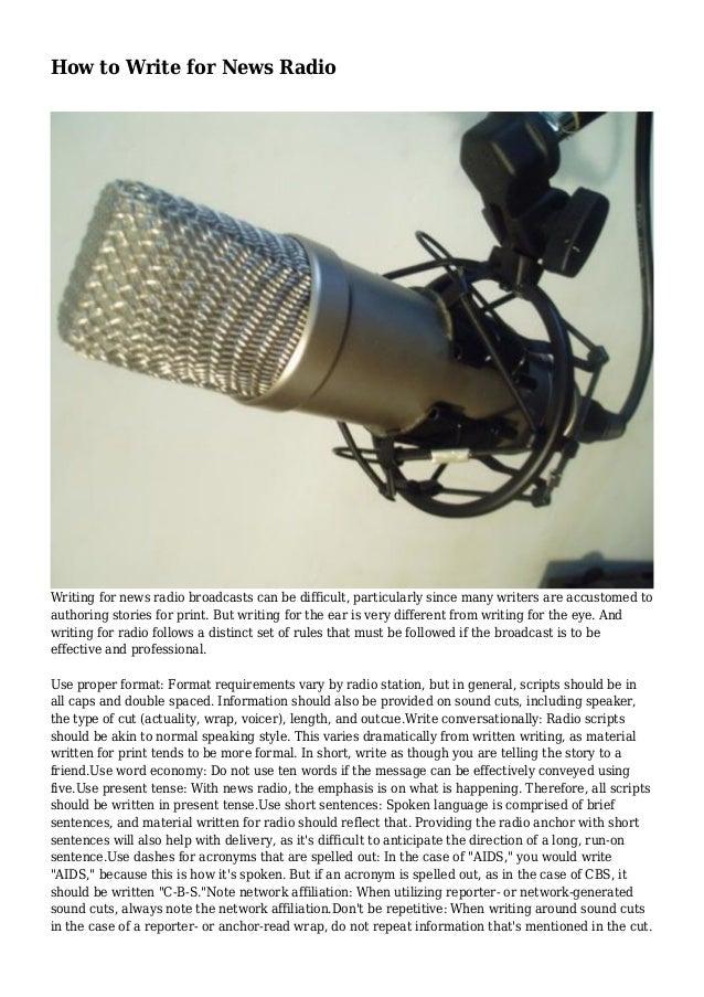 radio news writing pdf
