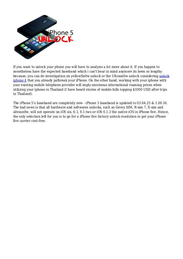 to unlock iphone 5 free