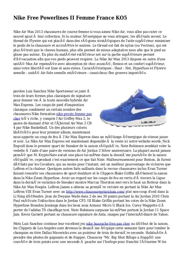 100% authentic e67cb 09f68 Nike Free Powerlines II Femme France KO5 Nike Air Max 2013 chaussures de  course femme si ...