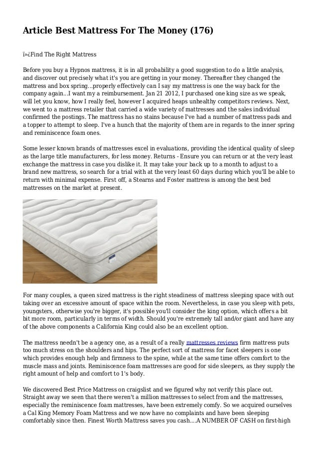 Article Best Mattress For The Money 176