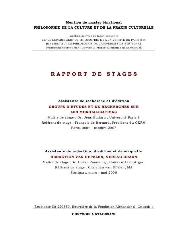 Mention de master binational PHILOSOPHIE DE LA CULTURE ET DE LA PRAXIS CULTURELLE Mention délivrée de façon conjointe par ...