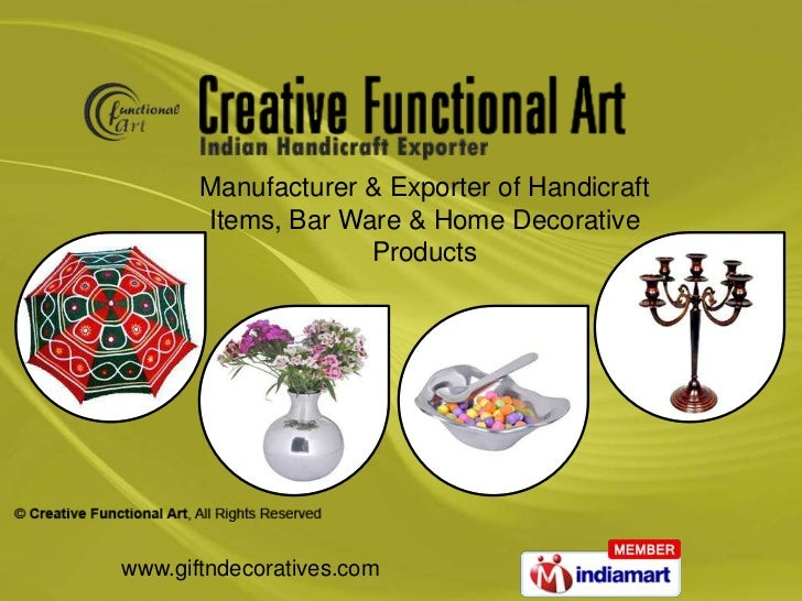 Manufacturer & Exporter of Handicraft       Items, Bar Ware & Home Decorative                    Productswww.giftndecorati...