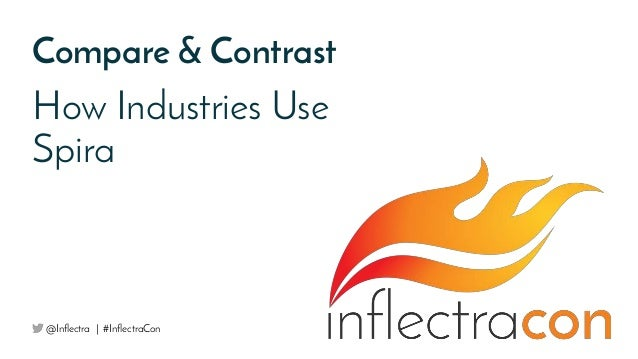 Compare & Contrast How Industries Use Spira @Inflectra | #InflectraCon