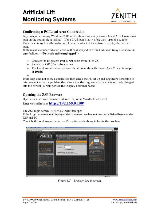 14460099000 user manual zenith sensor part b zsp rev f 2 rh slideshare net Zenith Advanced System 3 Zenith Space Command System 3
