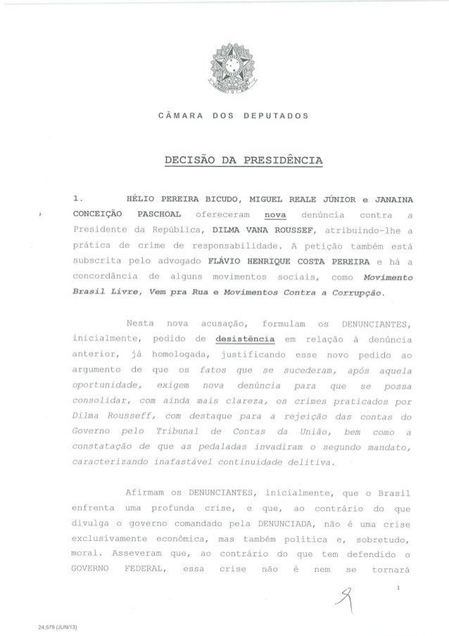 O parecer de Eduardo Cunha