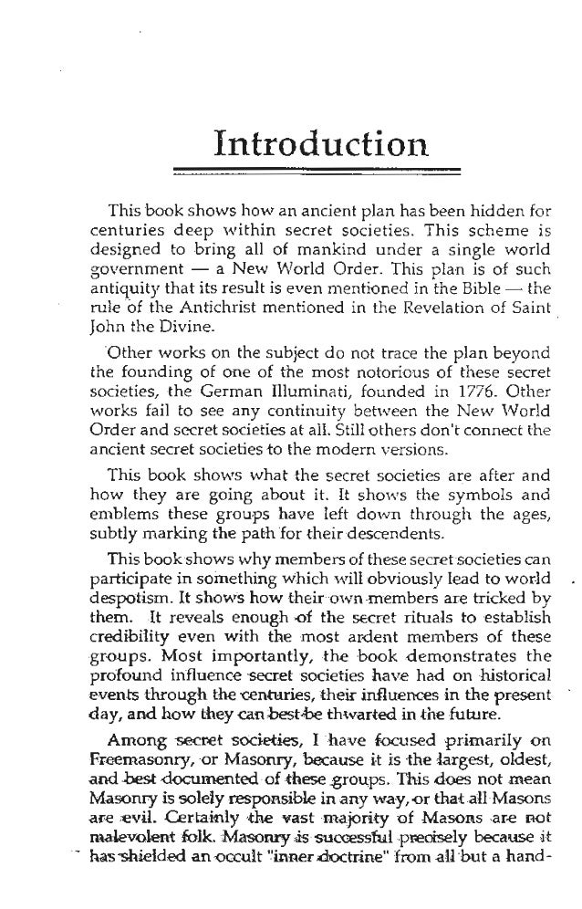 New World Order: The Ancient Plan of Secret Societies, by William T  …