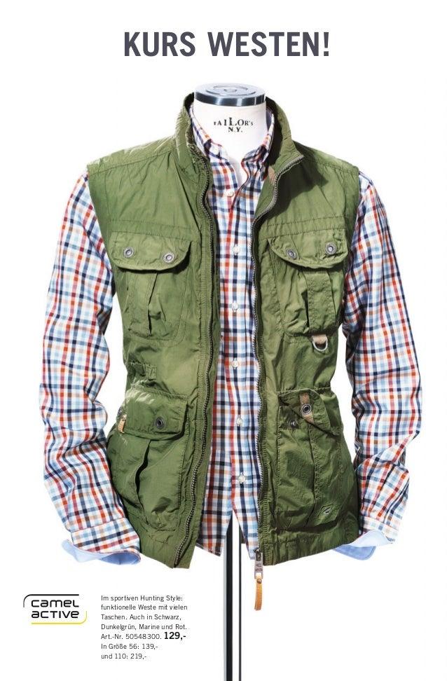 KURS WESTEN! Im sportiven Hunting Style: funktionelle Weste mit vielen Taschen. Auch in Schwarz, Dunkelgrün, Marine und Ro...