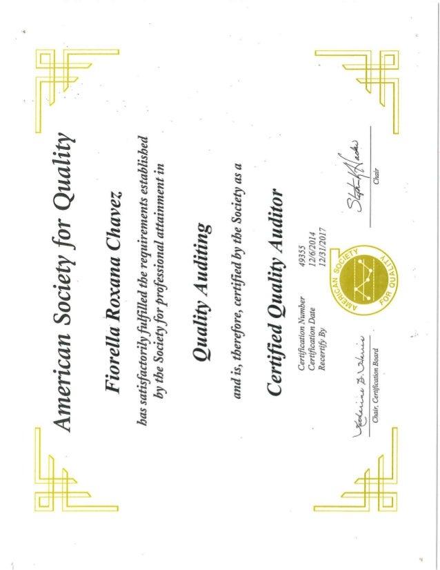 CQA Certificate