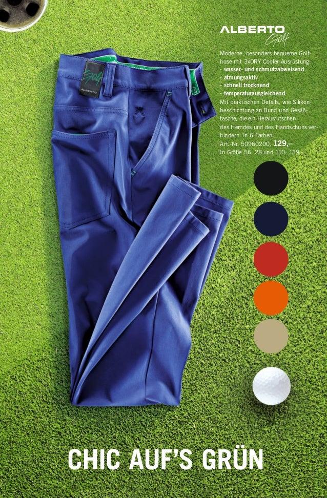 Moderne, besonders bequeme Golf- hose mit 3xDRY Cooler-Ausrüstung: - wasser- und schmutzabweisend - atmungsaktiv - schnell...