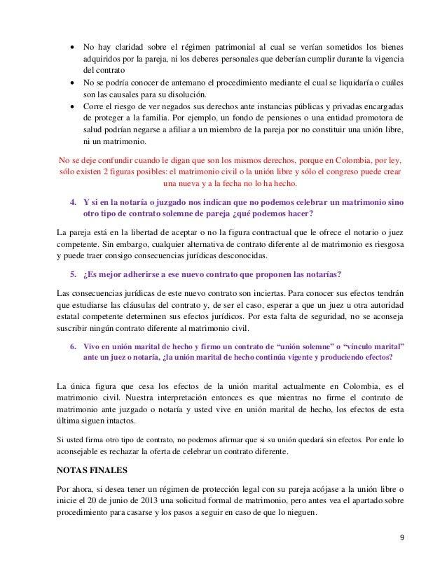 requisitos para un matrimonio gay en colombia