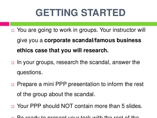 business ethics corporate scandals