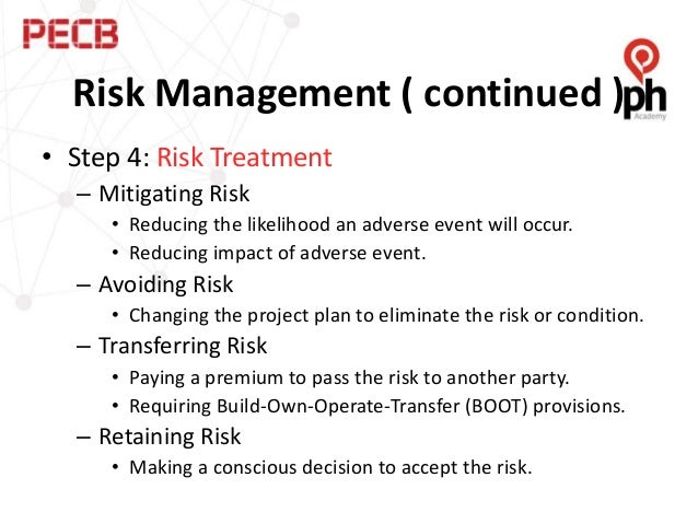 using risk management as a tool The risk management process or program is typically driven by a single individual, the project risk manager, in concert with the project manager or other high-level.