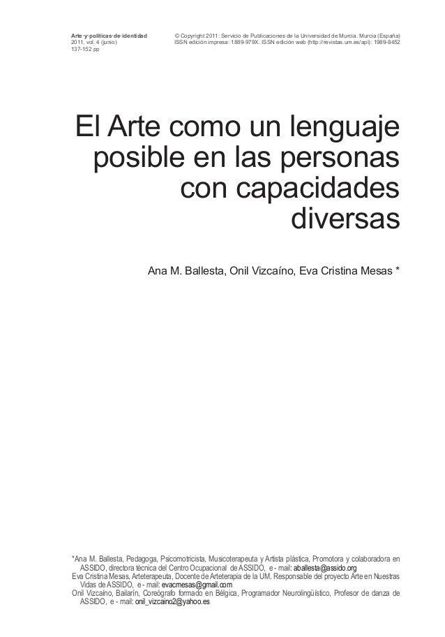 © Copyright 2011: Servicio de Publicaciones de la Universidad de Murcia. Murcia (España) ISSN edición impresa: 1889-979X. ...