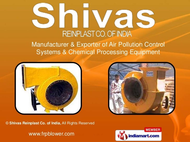 Manufacturer & Exporter of Air Pollution Control                Systems & Chemical Processing Equipment© Shivas Reinplast ...