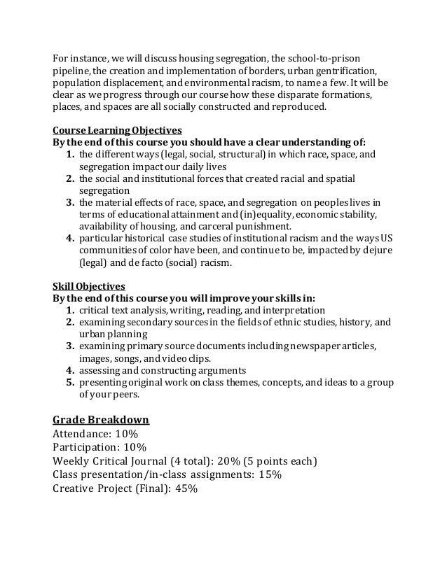 Printable Worksheets racism worksheets : ETHN 104 SSI Syllabus3