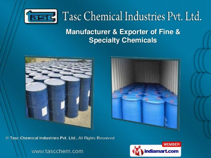 Manufacturer & Exporter of Fine &      Specialty Chemicals