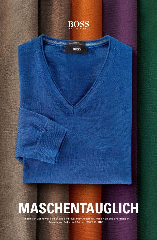 MASCHENTAUGLICH  In feinster Merinowolle: edler BOSS-Pullover mit V-Ausschnitt. Wählen Sie aus einer riesigen  Auswahl von...